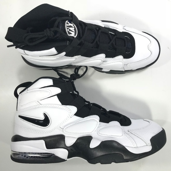 Interesting Nike Air Max 2 Uptempo 94 Triple Black Men's Basketball Shoes Sneakers